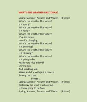 What's the weather like today? Неизвестный исполнитель