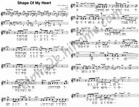 Shape Of My Heart (музыка без слов..) Sting